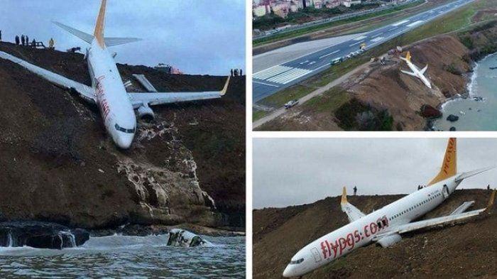 Meluncur ke Tepian Laut Hitam, Ini Detik-detik Penuh Keajaiban yang Dialami Penumpang Pesawat Turki