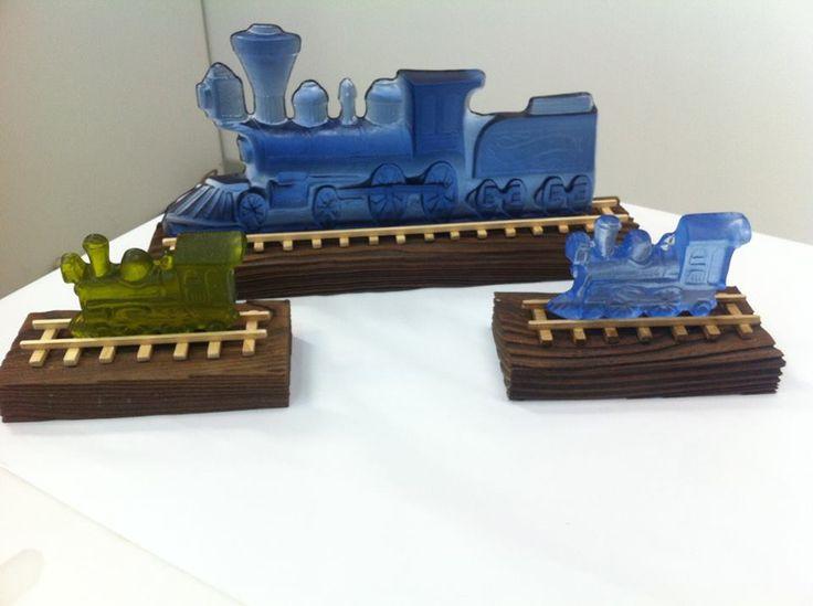 Green and steel blue Locomotive Train