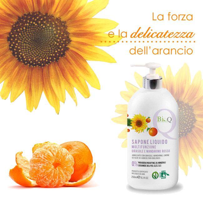 Ci laviamo spesso le #mani durante la giornata. Assicuriamoci che il nostro #sapone sia delicato e nutriente. Girasole e mandarino rosso sono quello che serve  ► #madeiniitlay #crueltyfree #bellezza