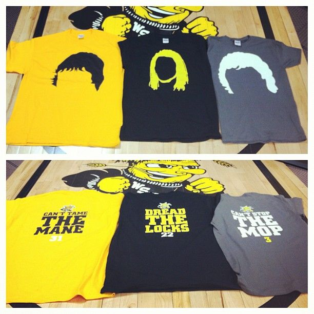 """Make sure to pick up your limited Edition """"Shocker Hair"""" shirt at the next WSU Basketball game. Get them while supplies last! #WATCHUS"""