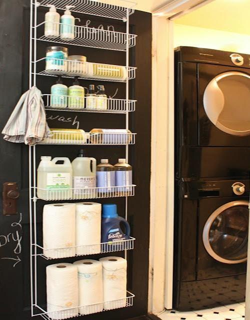 Laundry Room Decorating/Storage Idea (or Pantry door)