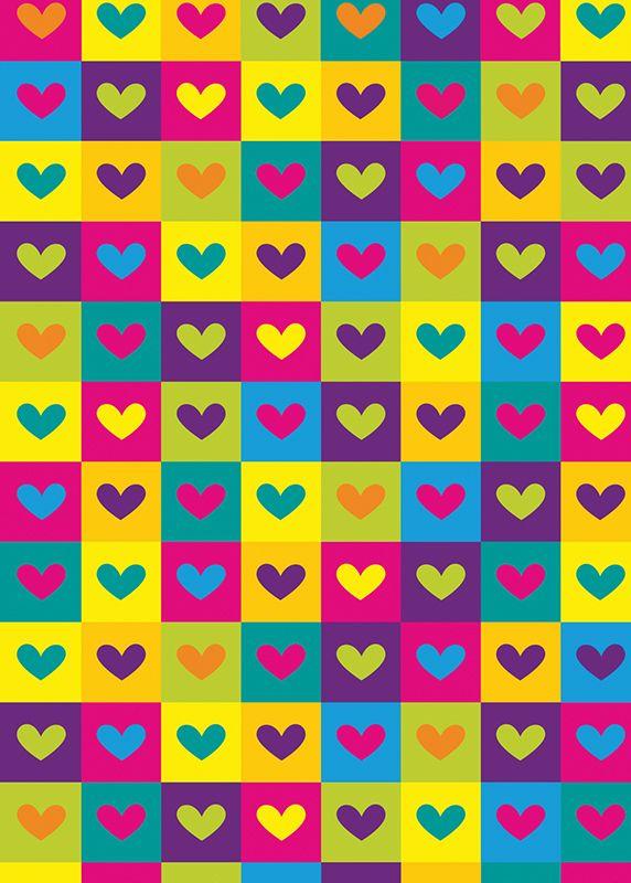 Papel regalo mini corazones colores