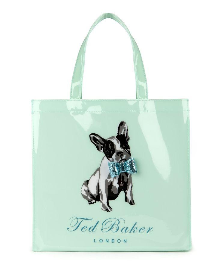 COTTCON - Dog print shopper bag. Ted Baker london