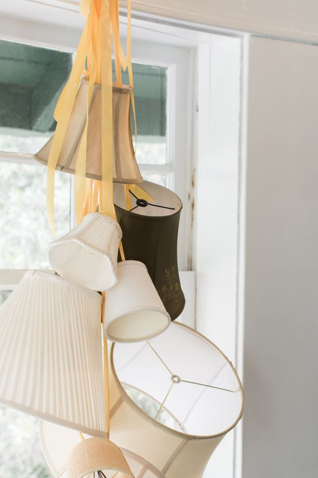 Hanging lampshade decor