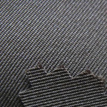 gabardine: a tough, tightly woven fabric used to make suits, overcoats, trousers, uniforms, windbreakers, and other garments.