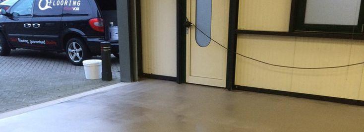 Industriële gietvloer (garagevloer, kantoorvloer) reclamebureau Gelderland