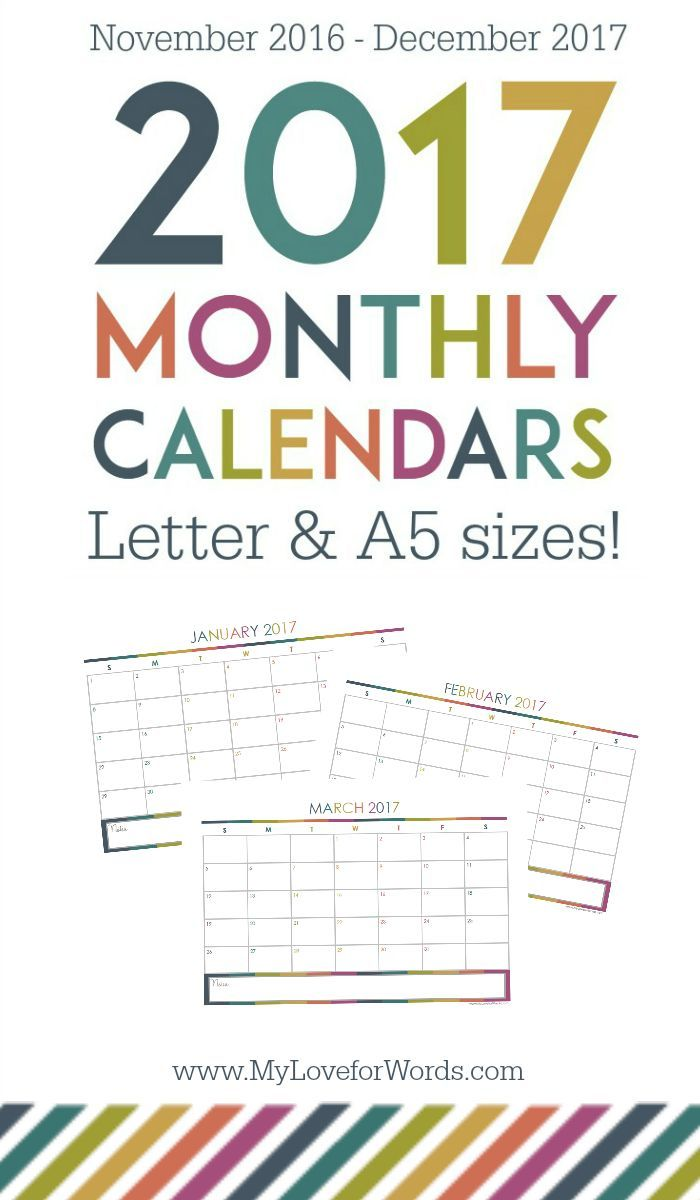 Monthly Organizing Calendar : Best images about diy printable calendars on