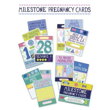 Recogen cada momento del embarazo y del recién nacido. Primera patada, juguete favorito, cómo crece la barriga!. Incluye 30 tarjetas.