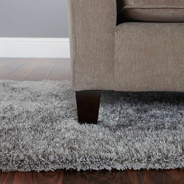 BuyJohn Lewis Gloss Shaggy Rug, L140 x 80cm, Silver Online at johnlewis.com