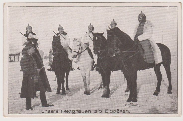 Ak, Rittmeister erteilt Patrouille Befehle, Kavallerie, Feldgraue Eisbären, WWI