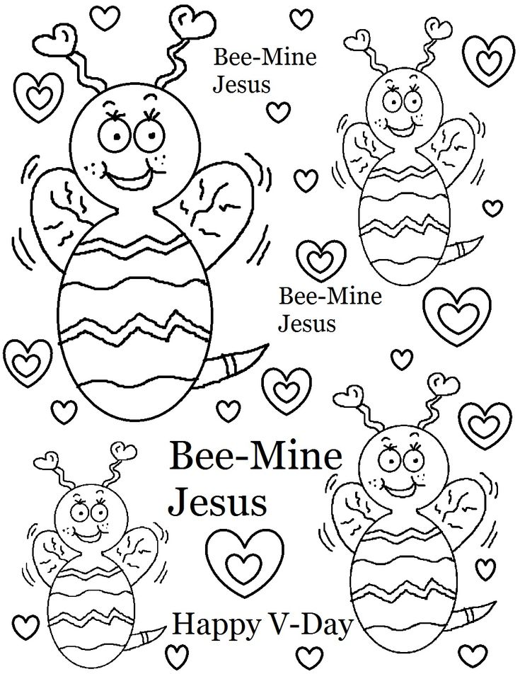 Download Or Print The Free Bee Mine Jesus Coloring Page And Find Thousands Of Other