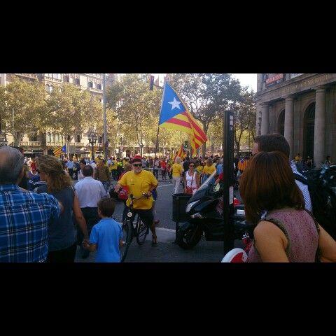 Bici per Independència de Catalunya. 19-10-2014 Per @JosepCarmona