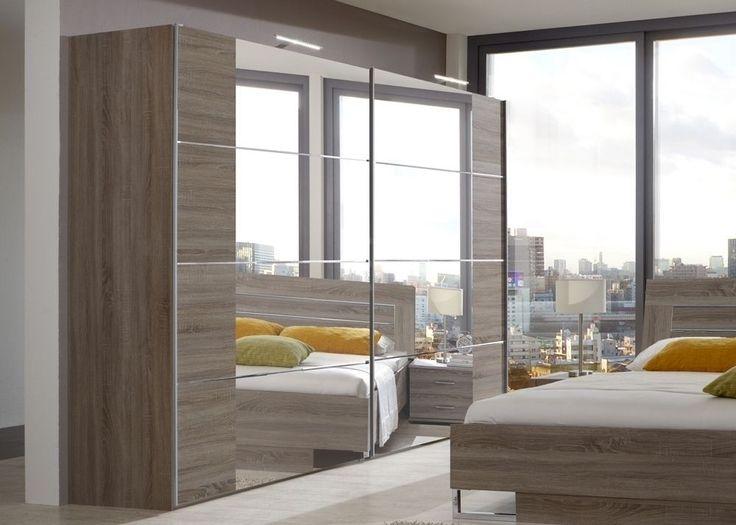 Die besten 25+ Kleiderschrank schiebetüren spiegel Ideen auf - schlafzimmer mit eckschrank