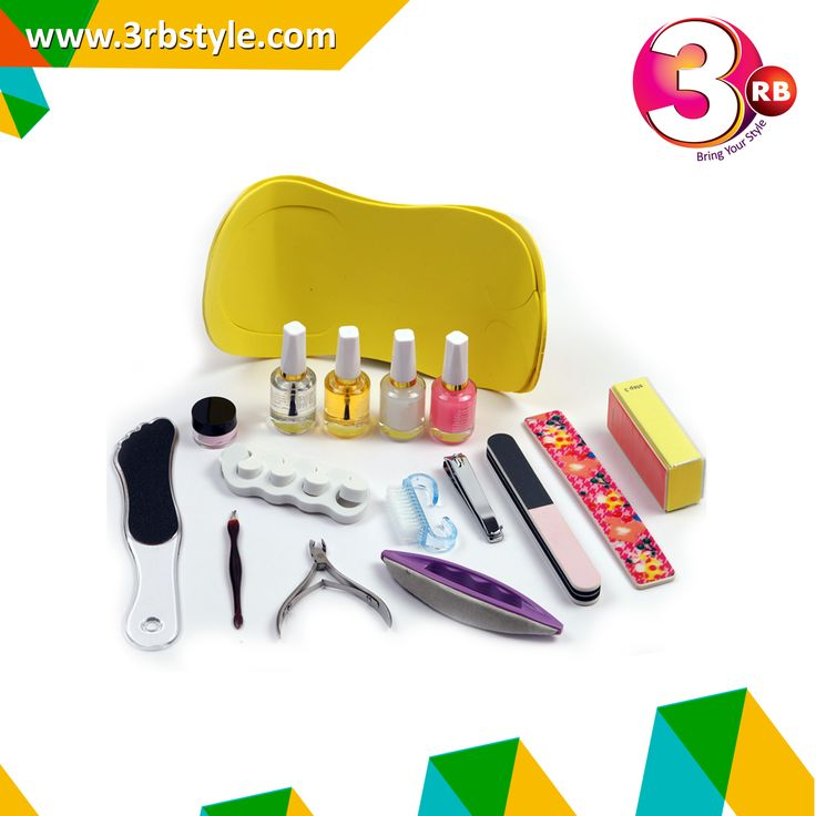 Regular manicure and pedicure enhance the health of our nails along with promoting their faster growth and maintaining well nourished and moisturized cuticles.  .1 X Buffer Block (Random Color) .1 X Base Coat 2 X Top Coat .1 X Oil Coat .1 X Cuticle Nippers .1 X Nail Brush .1 X Nail Cutter .1 X Toe Separators (Random Color) 1 X Nail Filer .1 X Foot Filer .1 X Dead Skin Fork .1 X Nail Buffer Brush .1 X Pedicure Slipper (Random Color) .1 X Buffing Cream 1 X Sanding File