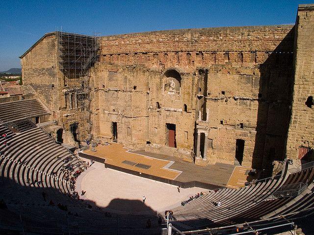 roman theater of orange, france. Sponsored by Augustus.