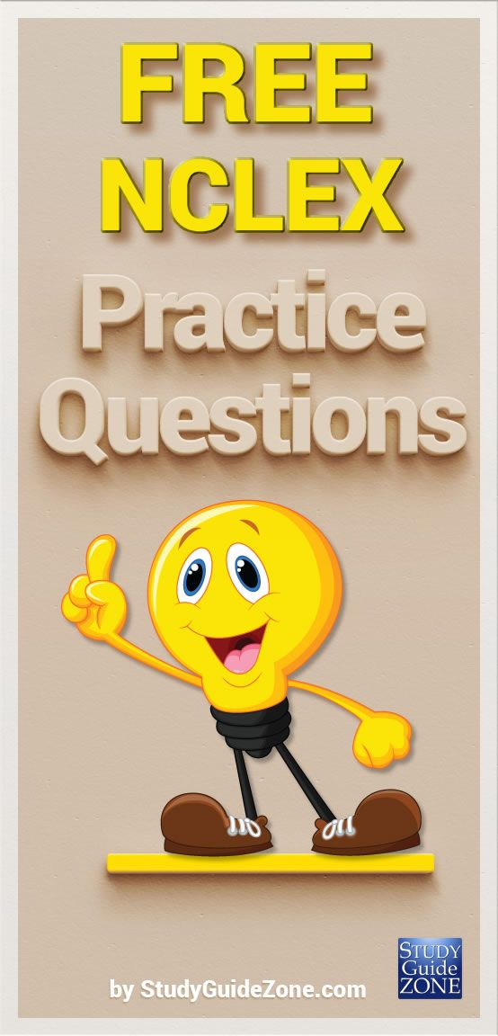 Get free NCLEX practice questions and study tips to help you prep for the NCLEX test. #nclextest #nclexprep