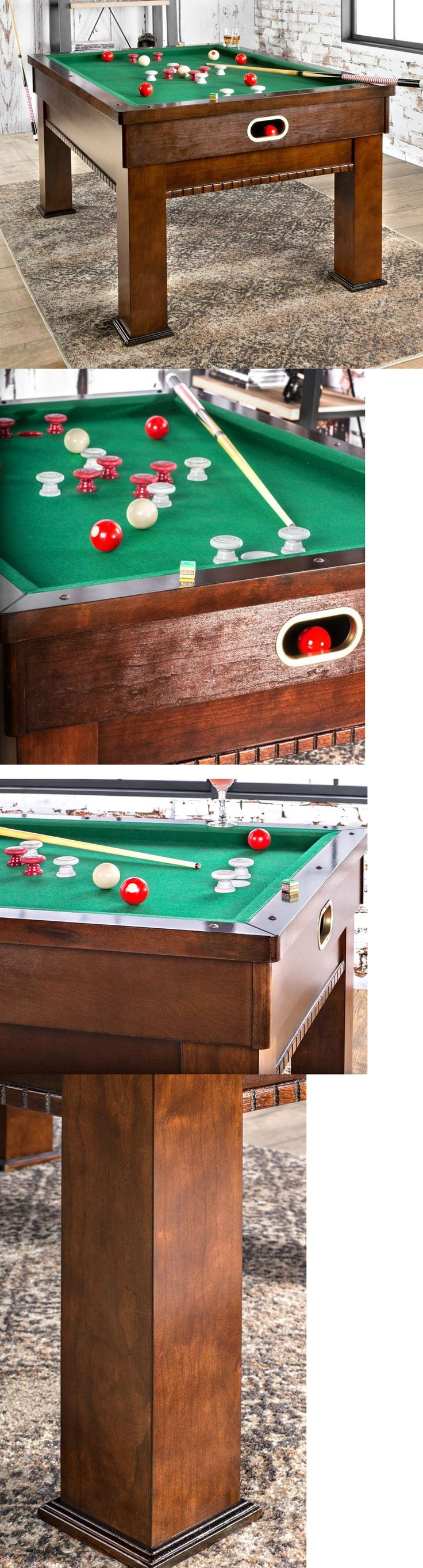 Tables 21213: Bumper Pool Table Game Tables For Game Room Family Kids Bar Cues Balls Chalk Set -> BUY IT NOW ONLY: $859 on eBay!