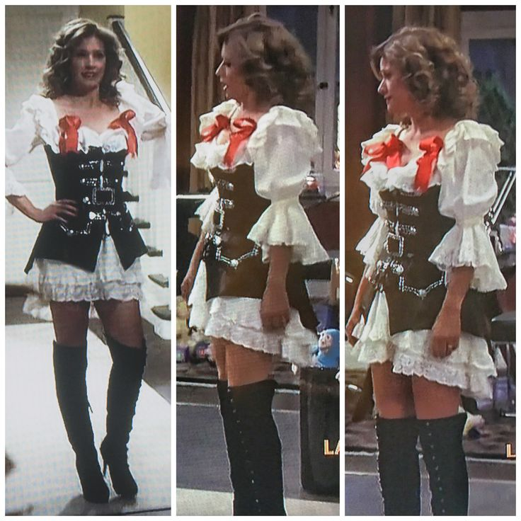 nancy travis in a sexy pirate costume on last man standing