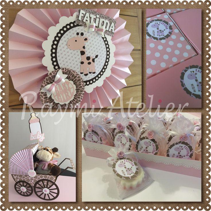 giraffe baby shower decoration - baby girl
