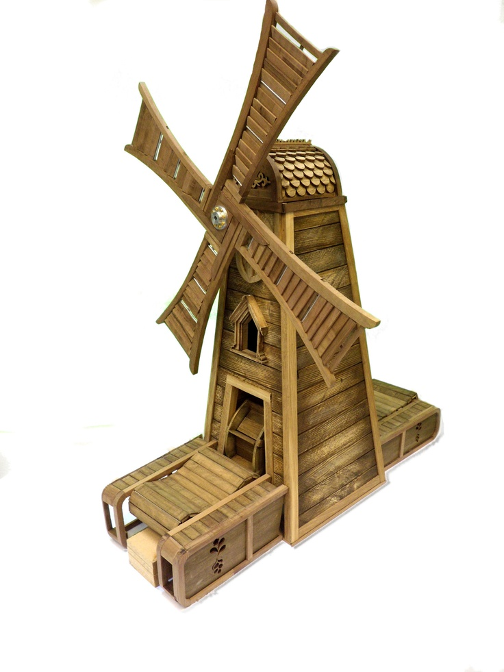 Wooden Windmill - katearthur.co.uk
