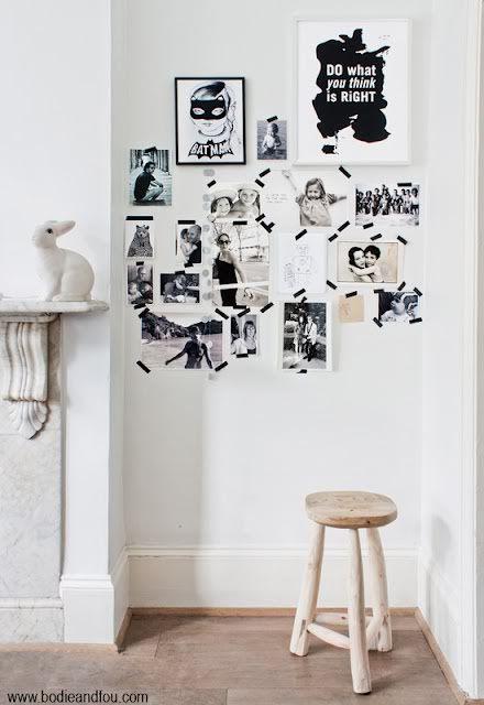 washi lint foto's ophangen