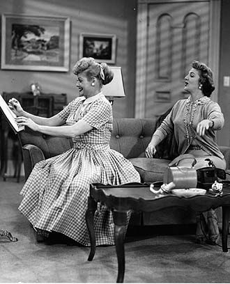 Image Detail for - Love Lucy: The Club Election.  Lucy and Carolyn Appleby