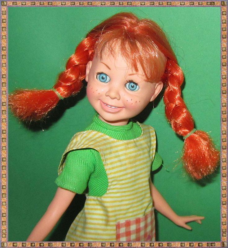 seltene alte vintage PIPPI LANGSTRUMPF Puppe (Made in Italy 1968?) - ca. 39 cm | eBay