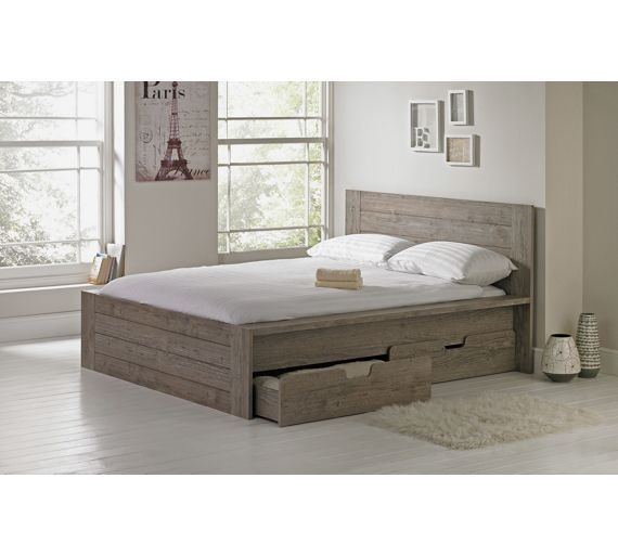 Buy Collection Seattle Double 2 Drw Storage Bed Frame-Smokey Oak at Argos.co.uk, visit Argos.co.uk to shop online for Bed frames, Beds, Bedroom furniture, Home and garden