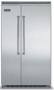 """VCSB5483SS Viking 48"""" Side by Side Built-in Refrigerator with Quiet Cool - Stainless Steel"""