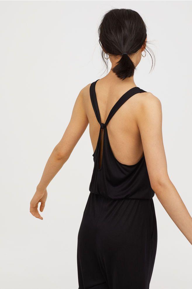 8d84de5fa5c Jersey Jumpsuit - Black - Ladies