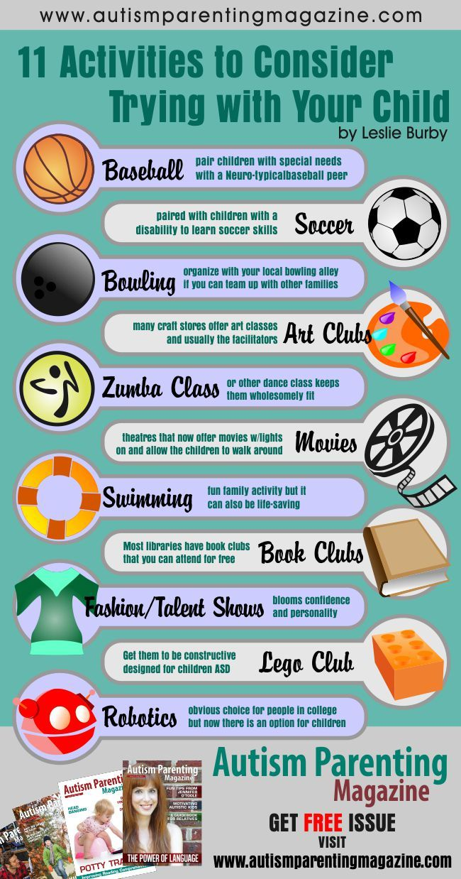 11 Activities to Consider Trying with Your Child #autism #Asperger