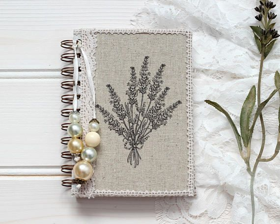 A6 Notebook, Small Notebook, Pocket Notebook, Lined Notebook, Gifts Under 15, Lavender Gift, Spiral Notebook, Unique Gift For Mothers Day