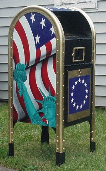 Flag Drop Box. I LOVE AMERICA!