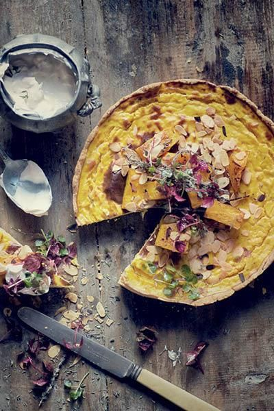 SA chef Jan Hendrik van der Westhuizen's Roasted Butternut and Almond Quiche