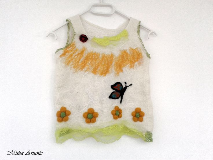 Felted dress Bebel by Mishaartunic on Etsy