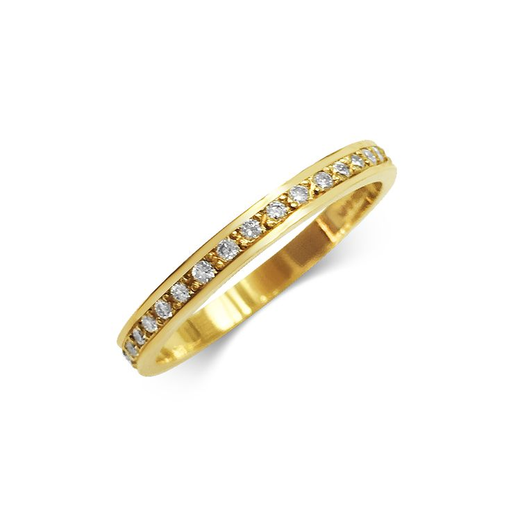 2MM DIAMOND THREAD AND GRAIN SET WEDDING BAND MADE IN 18CT YELLOW GOLD