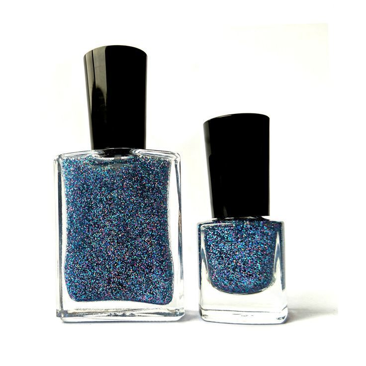 Halo of Frost – Blue Holographic Top Coat, Nontoxic Nail Polish, Scented Nail Po…
