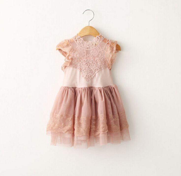 Katarina - Blush Lace Dress