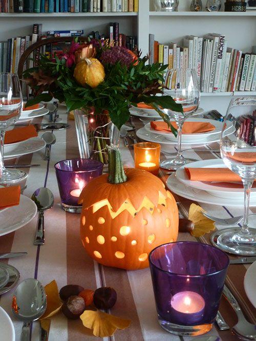 Tisch dekorieren für Thanksgiving