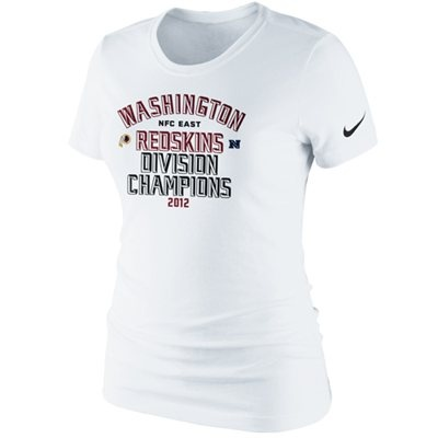 HAIL TO THE CHAMPS! The Redskins are going to the playoffs as NFC EAST CHAMPIONS! Shop official Redskins NFC East Division Championship gear here: http://pin.fanatics.com/NFL_Washington_Redskins/Nike_Washington_Redskins_Ladies_2012_NFC_East_Division_Champions_Locker_Room_T-Shirt_-_White/source/pin-redskins-nfc-east-champs-sclmp