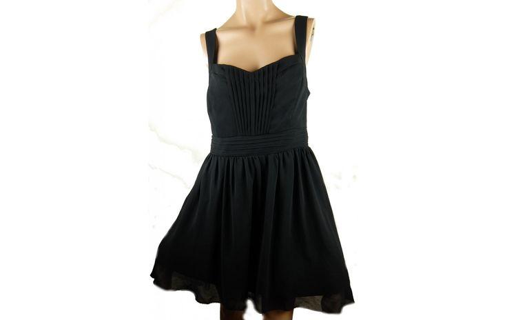 New Look tűllös igazi kis fekete ruha 44-es - Alkalmi egész ruha - Molett használt ruha - tunika