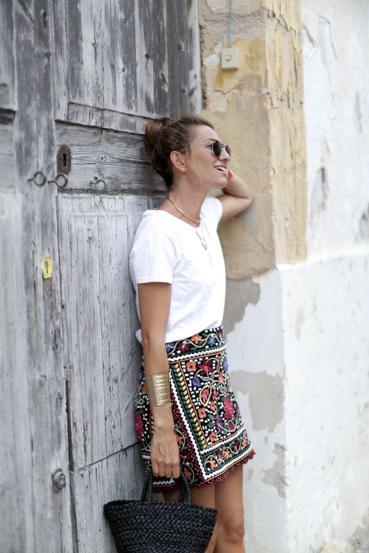 bartabac ibiza bimba y lola sandals zara skirt falda a bicycletteblog moda                                                                                                                                                     Más