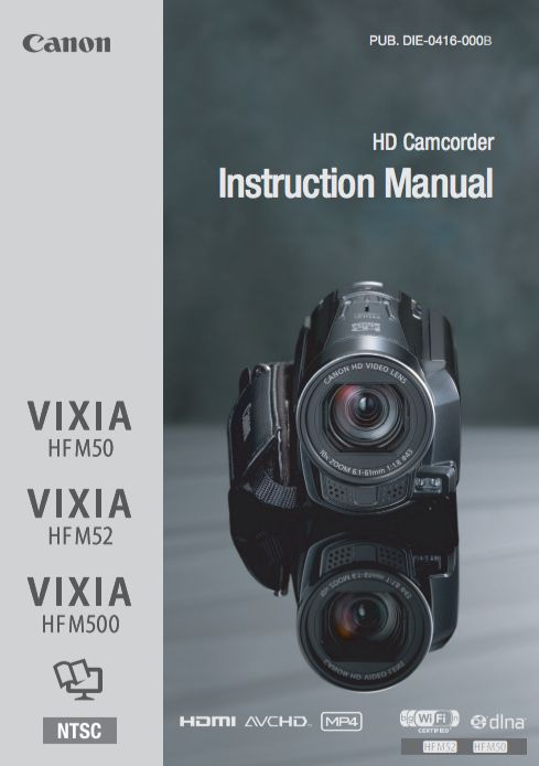 Canon Vixia HFR52 Manual