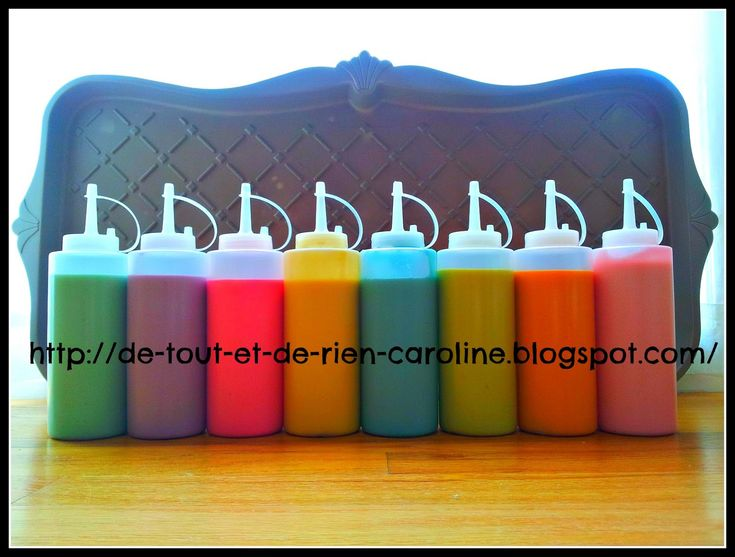 De tout et de rien: Activités pour le Préscolaire: Puffy paint recipe for microwave - Recette de peinture gonflante pour le micro-ondes