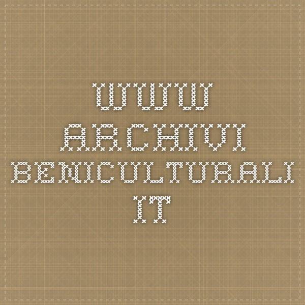 www.archivi.beniculturali.it