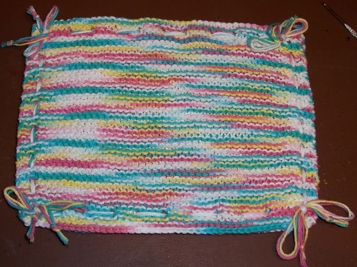 Knitting Pattern For A Pot Holder : 17 Best images about Knitted washcloths on Pinterest Free pattern, Baby blo...
