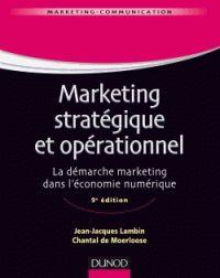 """658.8 LAM 9ème édition """"Cet ouvrage propose un traitement complet de la mise en oeuvre de la démarche marketing : du marketing stratégique et du marketing opérationnel. Le marketing stratégique porte sur la réflexion située en amont du processus de mise en marché et identifie les options et le positionnement. Le marketing opérationnel est chargé de la mise en ouvre des options stratégiques retenues en s'appuyant sur les 4P."""""""