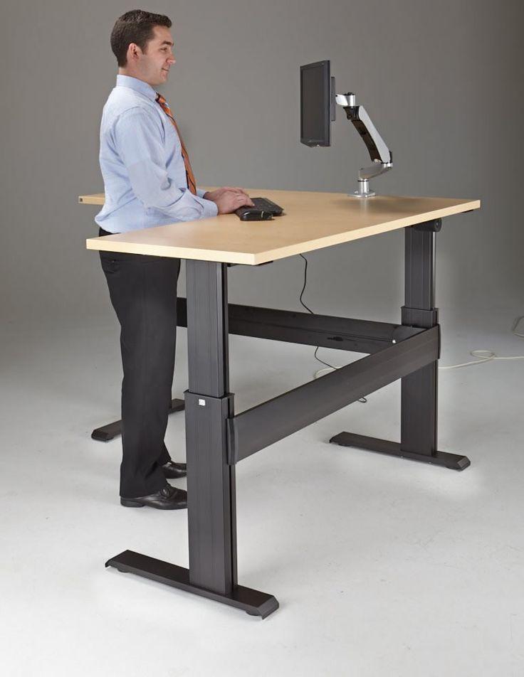 25 best sit stand desk ideas on pinterest standing desks computer stand for desk and diy. Black Bedroom Furniture Sets. Home Design Ideas