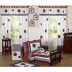@Overstock.com - This Little Ladybug bedding set by JoJo Designs will brighten up any room. This bedding set is adorned with appliques and embroidery works of ladybugs using bright fabrics and a classic color combination.http://www.overstock.com/Bedding-Bath/Red-White-Polka-Dot-Little-Ladybug-5-piece-Toddler-Girls-Bedding-Set/5298512/product.html?CID=214117 $89.99