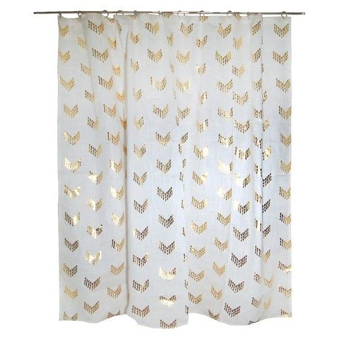 Grey And Gold Shower Curtain Medallions Shower Curtain in Grey